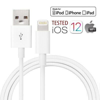 MFI Certified Lightning Sync Cable Charger Fr iPhone XS XR iPad 2 3 4 5 6 7 LOT