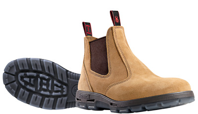 Redback UBBA Non Safety Work Boots. Elastic Sided, Bobcat Style. Banana Suede