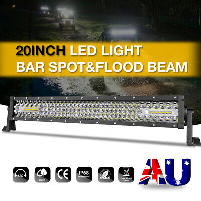 20inch Cree LED Light Bar Spot Flood 3Row+4Row Work Driving Lamp 4x4 4WD Offroad