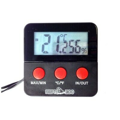 Reptile Digital Combined Thermometer & Hygrometer with Remote Probes