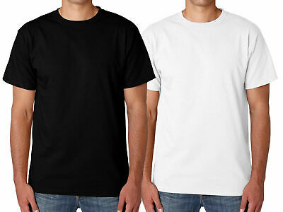 Mens Plain T-shirt Men's 100% Cotton Crew Neck T-Shirts Tee Top Longline Muscle