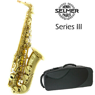 Selmer Paris SA80 Series III Alto Saxophone | Gold Lacquered Engraved | New
