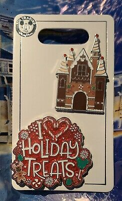 Gingerbread House and I Love Holiday Treats 2019 Christmas Disney Pins IN HAND