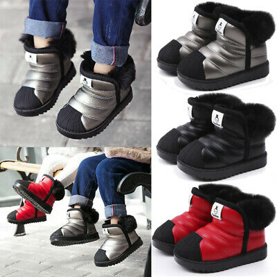 Kid Snow Boots Waterproof Toddler Infant Baby Boy Girl Winter Warm Ankle Shoes k