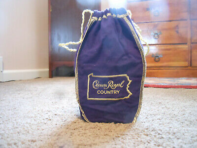 Limited Edition Crown Royal Purple Pennsylvania Country Felt Bag