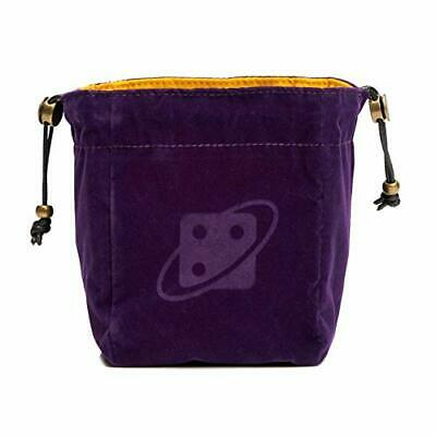 `Dice Bag: Reversible - Purple And Gold, Brass Clasp` ACC NEW