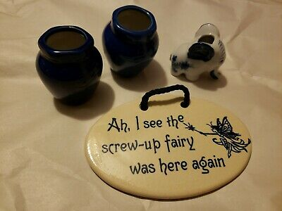 Mountain Meadows Pottery Ah, I See The Screw Up Fairy Was Here Again Plaque