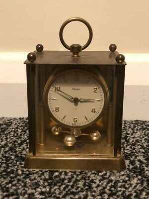 Antique Solid Brass 8 Day Ranela Mechanical Mantle Carriage Clock Faulty