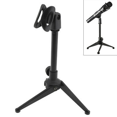 Portable Plastic Microphone Three-Legged Lifting Stand 180° Rotation Angle