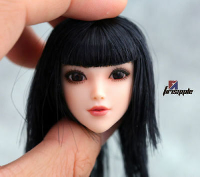 TIANYIMEI 1//6 Scale Red Scarf Female Head Sculpt Fit for PH OB Body