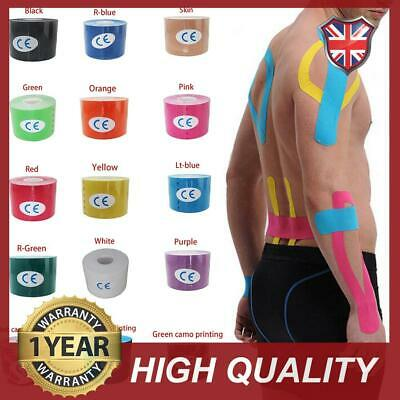 1/2x 5m Kinesiology Tape   Sports Physio Knee Shoulder Body Muscle Support UK