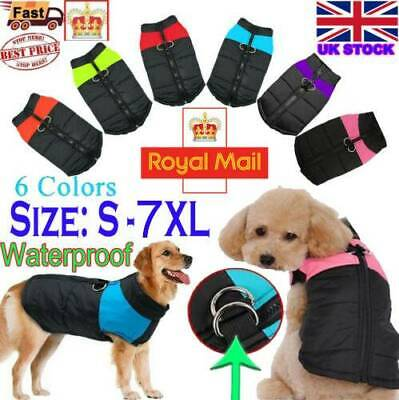 Waterproof Pet Dog Clothes Winter Autumn Warm Padded Coat Vest Jacket Apparel __