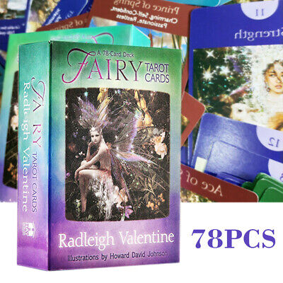 78Pcs Fairy Tarot Cards by Radleigh Valentine Card Deck and Guidebook Divination