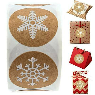 500x Merry Christmas Stickers Labels Decorating Present Seals 30mm Xmas Envelope