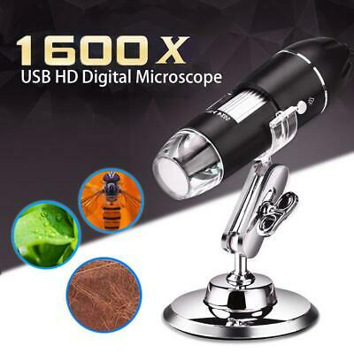 1000/1600X USB Zoom 8 LED Microscope Digital Magnifier Endoscope Camera + Stand