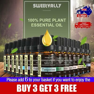 Essential Oil Pure & Natural Aromatherapy Diffuser Set 10ml Aroma Purifier AU