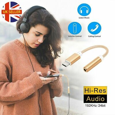 For Huawei Samsung USB-C Type C To 3.5mm Audio Aux Headphone Jack Adapter Cable