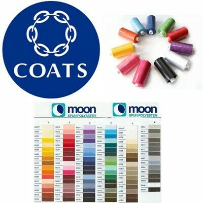 Moon Thread Coats Polyester 1000 Yard Sewing Machine Huge Multi Buy Discount