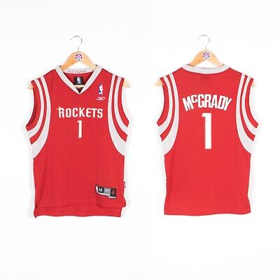 Kids Boys Nba Basketball Jersey Reebok Vest Houston Rockets T-Mac 10 - 12 Years