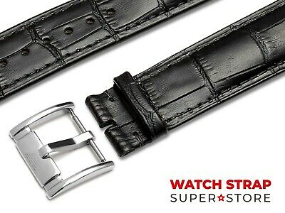 Black Fits EMPORIO ARMANI Watch Strap Band Genuine Leather 18 19 20 21 22mm Pins
