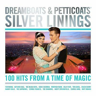 DREAMBOATS & PETTICOATS : SILVER LININGS (Various Artists) 4 CD Set (2019)