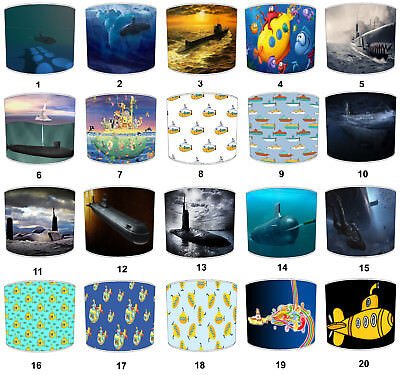 Lampshades Ideal To Match Submarines Pillows & Submarines Wall Decals & Stickers