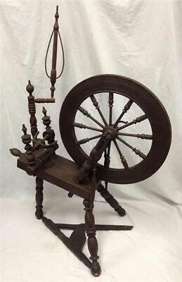 "Antique Primitive Spinning Wheel MC 20"" Wheel"