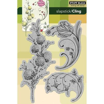 FLOWER Gentle Whisper Cling Style Unmounted Rubber Stamp PENNY BLACK 40-331 New
