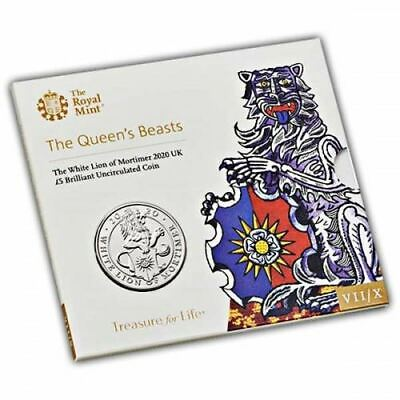 The Queens Beasts The White Lion of Mortimer 2020 UK �5 BU Coin