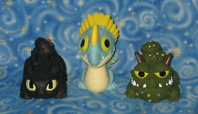 New 3 DreamWorks How to Train Your Dragon Water Squirt Toys with Toothless