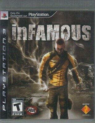inFamous (Sony PlayStation 3 / PS 3) Complete w. Manual