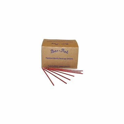 """Cell-O-Core BS8RED 7.75"""" Unwrapped Collins Straws - 5000 / CS"""