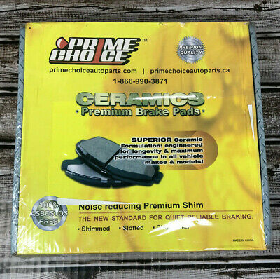 Prime Choice Auto Parts SCD1421-1275 8 Front and Rear Ceramic Disc Brake Pads