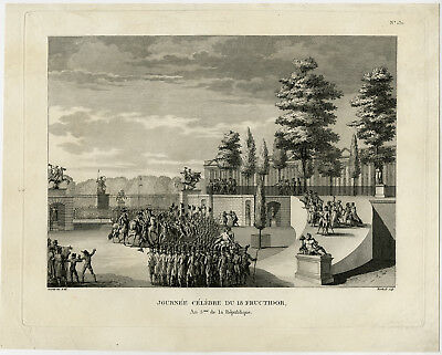 Antique Print-FAMOUS DAY-FRUCTIDOR-FRENCH REVOLUTION-P.130-Chamfort-1798