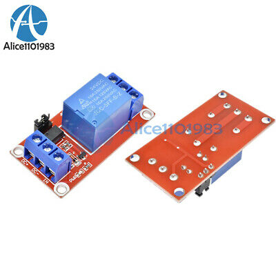 DC 24V 1-Channel Relay Module with Optocoupler H/L Level Trigger for Arduino