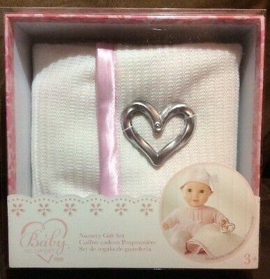 NEW Baby So Sweet Doll Nursery Gift Set Heart Knit Blanket You & Me
