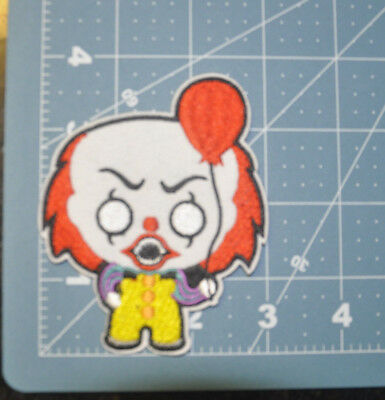 It Movie Pennywise Clown Red balloon Logo embroidered Patch 3 3/4 inches tall