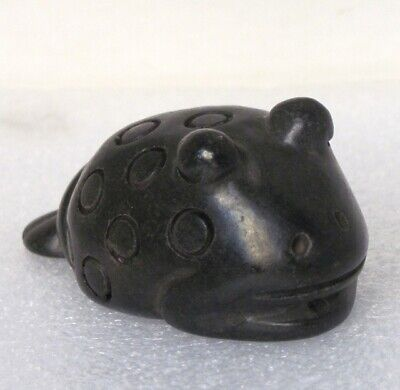 "3.4""HONGSHAN Culture Hand-carved Toad carving Meteorite Pendant"