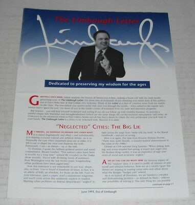 The Limbaugh Letter--7 different items....1993-1994