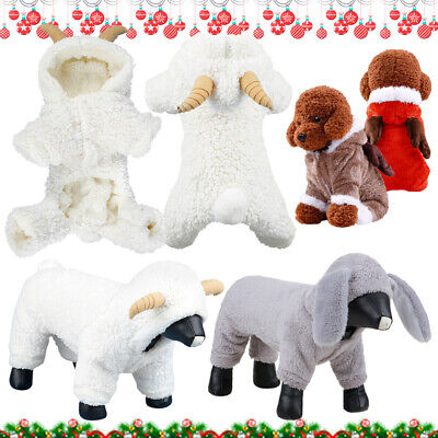 Soft Costumes Puppy Dog Pet Winter Fleece Hoodie Clothes Jumpsuit Jacket Coat