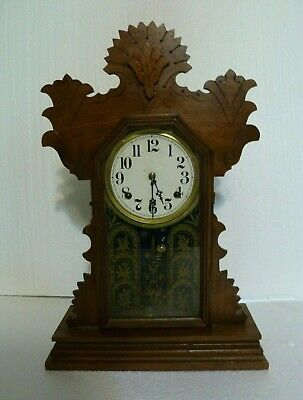 Antique Ingraham Mantle Parlor Gingerbread Clock Untested