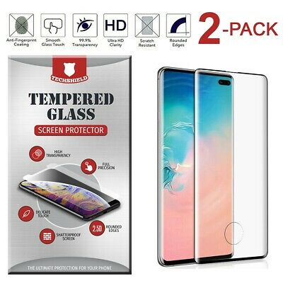 For Samsung Galaxy S10/S10+ Tempered Glass Fingerprint Sensor Cutout Film 2-Pack