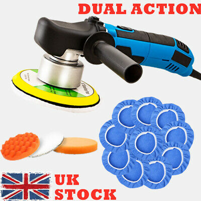 "680W 6"" Dual Action Car polisher Buffer Sander DA Polishing Machine Bonnet Pads"