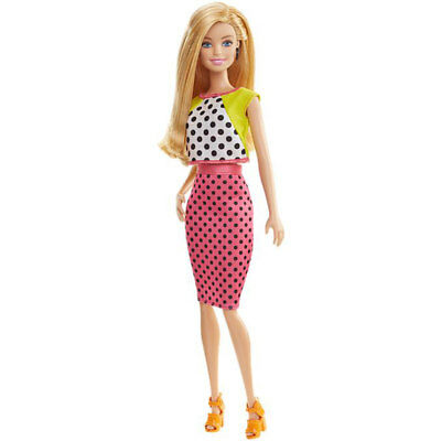 """Mattel Barbie Fashionistas Dolled Up in Dots 12"""" Doll Collectible Fashion Doll"""