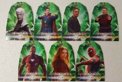 2018  Marvel Avengers Infinity War TIME Stones 7 Cards Set die cut