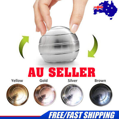 Metal Desktop Sphere Ball Spinner Gyro Toy Stress Reducer Gift Table Gyroscope A