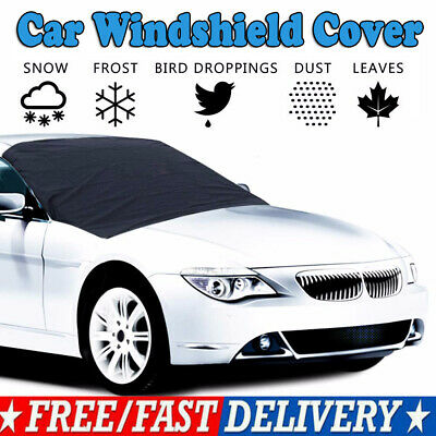 Magnetic Car Windshield Snow Cover Winter Frost Guard Sunshade Protect Tool UK
