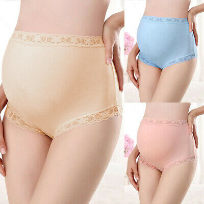 Maternity Pregnant Women Panties Underwear Overbump Brief Knicker Plus Size 8-24