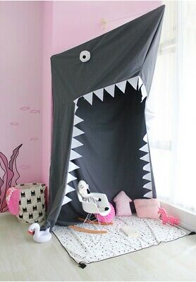 Kids Shark Bed Tent for Boys & Girls Play Game for Indoor Play House