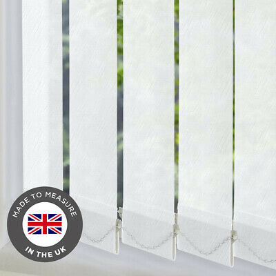 Metz Metallic White PVC Wipeable Replacement Vertical Blind Slats Louvres 89mm